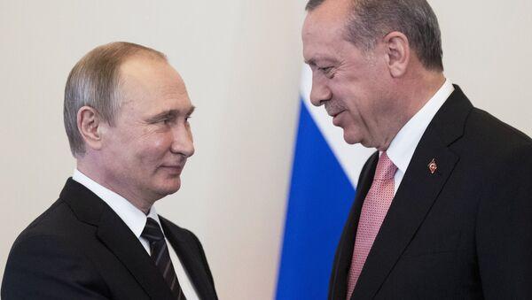 Встреча президентов России и Турции В. Путина и Р. Эрдогана - Sputnik Узбекистан