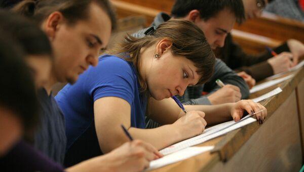 Student v auditorii. Arxivnoye foto - Sputnik Oʻzbekiston