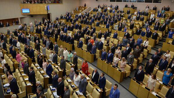 Депутаты на заседании Госдумы РФ - Sputnik Узбекистан