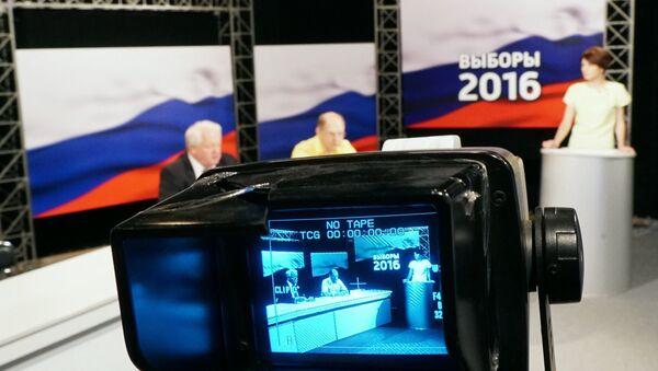 Предвыборные дебаты на калининградском телевидении ГТРК Янтарь - Sputnik Узбекистан