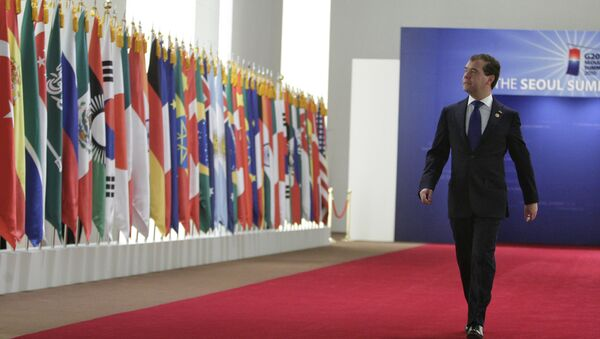 Premyer-ministr RF D.Medvedev - Sputnik Oʻzbekiston