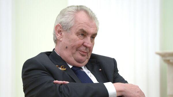 Президент Чешской Республики Милош Земан - Sputnik Ўзбекистон