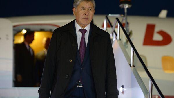 Қирғизистон Республикаси президенти Алмазбек Атамбаев - Sputnik Ўзбекистон