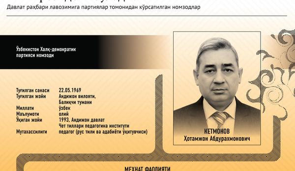Ўзбекистон президентлигига номзодлар - Sputnik Ўзбекистон