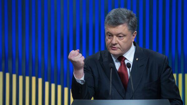 Президент Украины П. Порошенко  - Sputnik Ўзбекистон