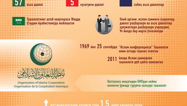 Islom hamkorlik tashkiloti - Sputnik Oʻzbekiston
