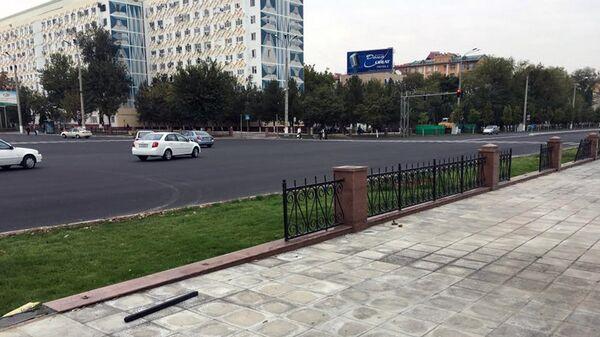 Участок улицы Ойбек в Ташкенте рядом с вокзалом - Sputnik Узбекистан