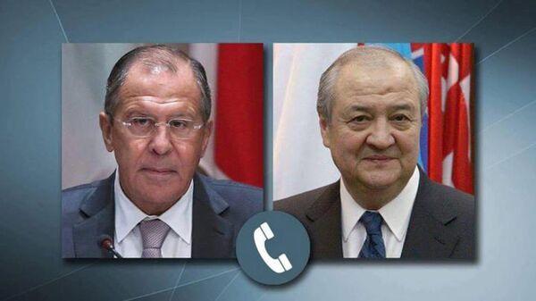 Sergey Lavrov va Abdulaziz Kamilov - Sputnik Oʻzbekiston