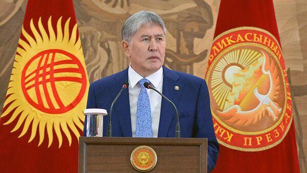 Qirgʻiziston Respublikasi prezidenti Almazbek Atambayev - Sputnik Oʻzbekiston