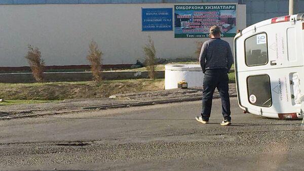 Toshkentda marshrutka ishtirokidagi YTH - Sputnik Oʻzbekiston
