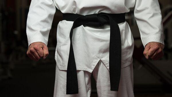 Боец в кимоно перед поединком - Sputnik Ўзбекистон