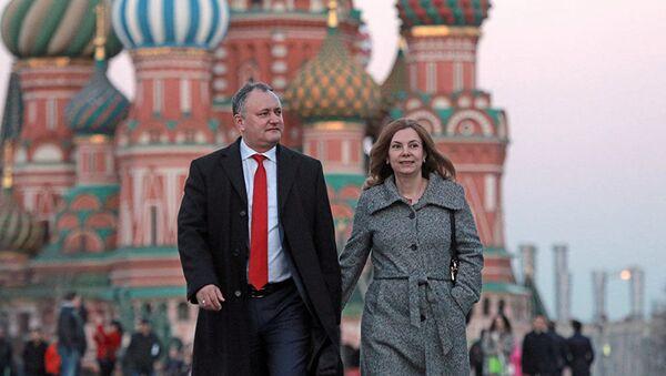 Galina Dodon i Igor Dodon - Sputnik Oʻzbekiston