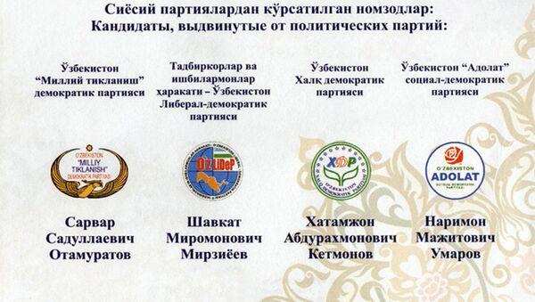 2016 yilgi saylovlarga taklifnoma - Sputnik Oʻzbekiston