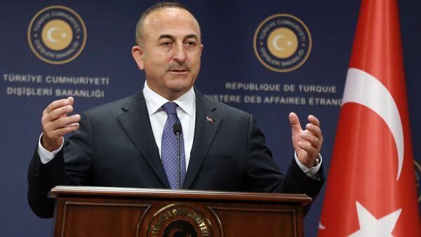 Turkiya TIV rahbari Mevlyut Chavushoglu - Sputnik Oʻzbekiston