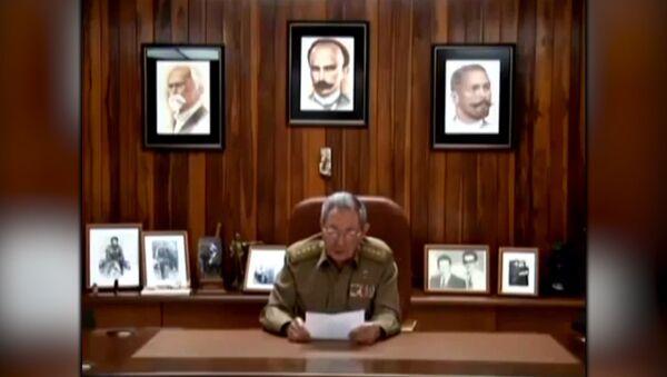 СПУТНИК_Заявление Рауля Кастро о смерти лидера кубинской революции Фиделя Кастро - Sputnik Узбекистан