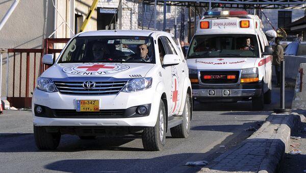 Машины Красного Креста на территории Сирии - Sputnik Узбекистан