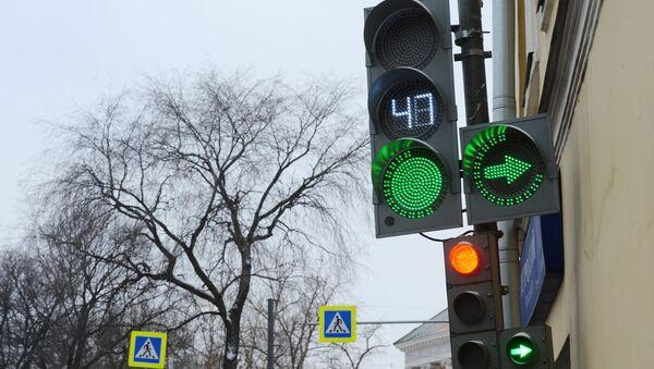 Экспериментальный светофор с обратным кольцевым отсчетом - Sputnik Узбекистан