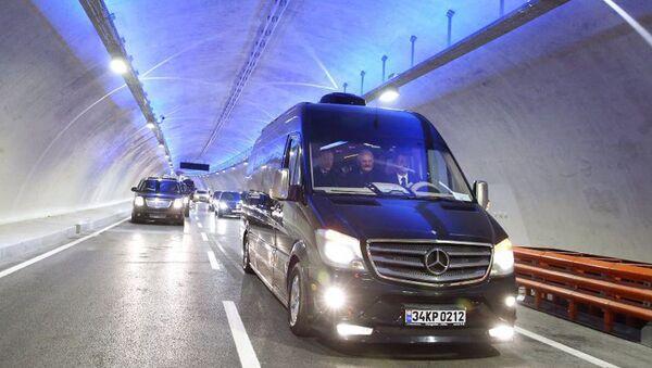 Открытие тоннеля Евразия под проливом Босфор - Sputnik Узбекистан