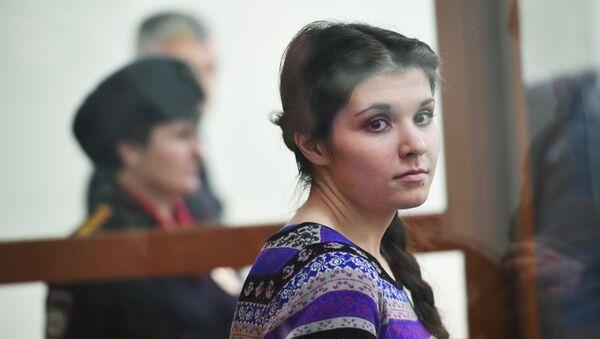 Варвара Караулова выступила с последним словом в Московском окружном военном суде - Sputnik Ўзбекистон