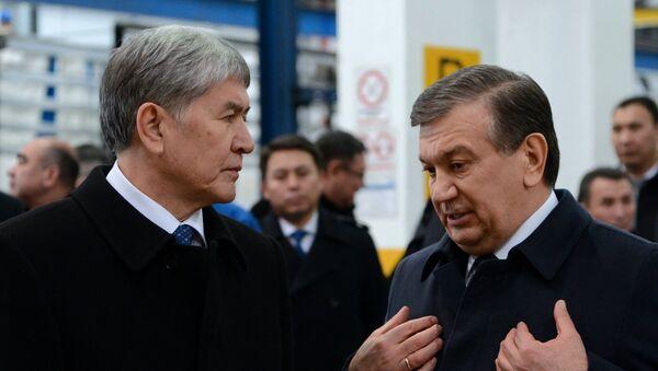 Shavkat Mirziyoyev va Almazbek Atambayev - Sputnik Oʻzbekiston