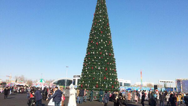 Новогодняя елка на площади в Ташкенте - Sputnik Узбекистан