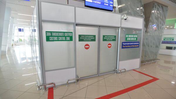 Зона таможенного контроля, аэропорт Минск - Sputnik Ўзбекистон