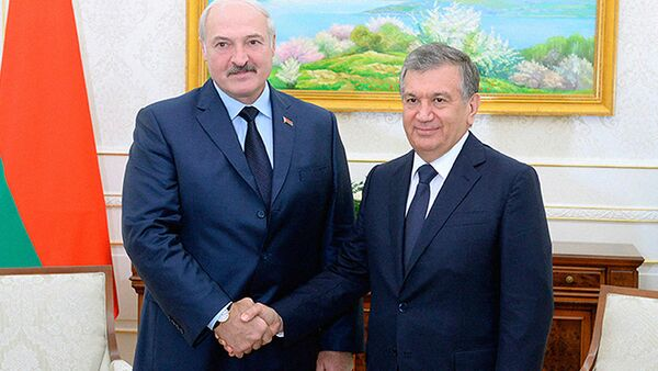Александр Лукашенко и Шавкат Мирзиёев - Sputnik Ўзбекистон