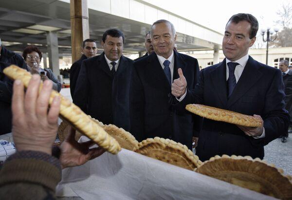 Rossiya prezidenti D.Medvedevning Samarqandga tashrifi - Sputnik Oʻzbekiston