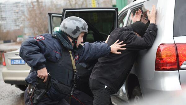 Rabota vnevedomstvennoy oxranы moskovskoy politsii - Sputnik Oʻzbekiston