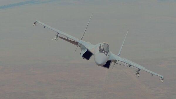 Su-35S – oʻta chaqqon qiruvchi samolyot - Sputnik Oʻzbekiston