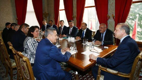 Vitse-premyer RUz R.Azimov na vstreche s prezidentom Turtsii R.Erdoganom - Sputnik Oʻzbekiston