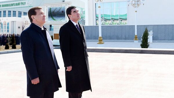 Президент Республики Узбекистан Шавкат Мирзиёев и Президент Туркменистана Гурбангулы Бердымухамедов - Sputnik Ўзбекистон