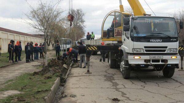 Ремонтные работы на улицах Ташкента - Sputnik Узбекистан