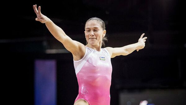 Gimnastikachi Oksana Chusovitina - Sputnik Oʻzbekiston