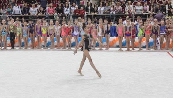 Узбекская гимнастка Самира Салиева на турнире на призы Яны Батыршиной - Sputnik Узбекистан