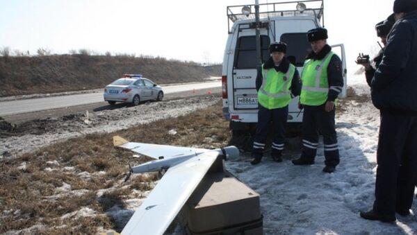 Полиция ходимлари учувчисиз аппарат билан - Sputnik Ўзбекистон