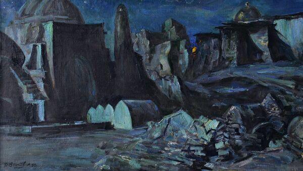 Kartina Lunnaya Xiva Lva Reznikova - Sputnik Oʻzbekiston