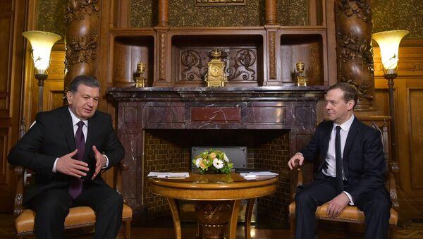 Премьер-министр РФ Д. Медведев встретился с президентом Узбекистана Ш. Мирзиеевым - Sputnik Ўзбекистон
