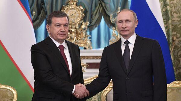 Президент РФ В. Путин встретился с президентом Узбекистана Ш. Мирзиеевым - Sputnik Ўзбекистон