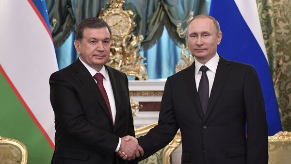 Владимир Путин принял Шавката Мирзиёева в Кремле - Sputnik Ўзбекистон