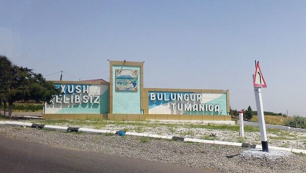 Въезд в Булунгурский район Самаркандской области - Sputnik Ўзбекистон