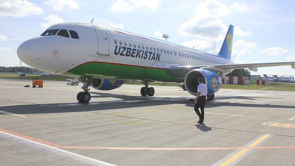 Samolet uzbekskix avialiniy - Sputnik Oʻzbekiston