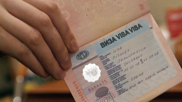 Виза в паспорте - Sputnik Ўзбекистон