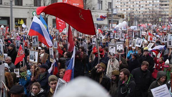 Акция Бессмертный полк в Москве - Sputnik Ўзбекистон