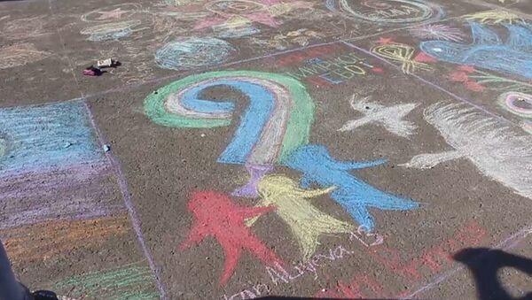 Спасибо за мирное небо: конкурс детских рисунков к 9 Мая - Sputnik Узбекистан