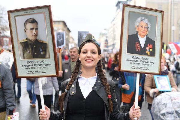 Акция Бессмертный полк в городах России - Sputnik Узбекистан