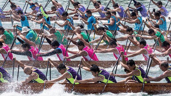 Соревнования лодок-драконов в Гонконге - Sputnik Узбекистан