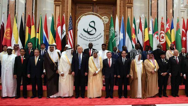 Участники саммита арабо-исламских стран и США в Эр-Рияде - Sputnik Ўзбекистон