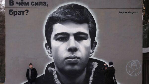 Живопись на стенах домов в Санкт-Петербурге - Sputnik Ўзбекистон