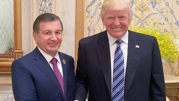 Prezidentы Uzbekistana i SSHA - Shavkat Mirziyoyev i Donald Tramp - Sputnik Oʻzbekiston